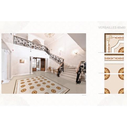 Decor pentru gresie Versailles Esquina, crem, lucios, 60 x 60 cm