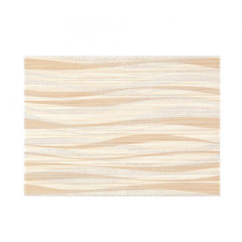 Decor faianta baie / bucatarie Tanaka Cream Geo mat crem 25 x 40 cm