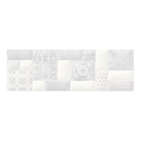 Decor faianta baie / bucatarie Pillow Game ND038-002, alb, 29 x 89 cm