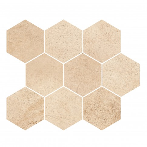 Mozaic ceramic Sahara Desert Hexagon OD358-013, galben, 28 x 33.7 cm