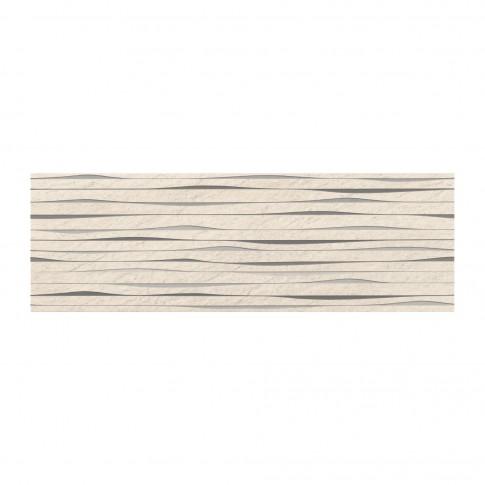 Decor faianta baie / bucatarie Granita Stripes OD490-005, alb, 24 x 74 cm