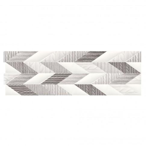 Decor faianta baie / bucatarie French Braid Wool ND036-002, alb, 29 x 89 cm