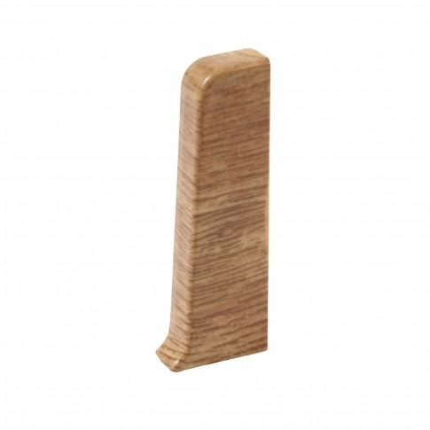 Capete stanga / dreapta pentru plinta Vilo Esquero 608, stejar rosu, 2 buc / set