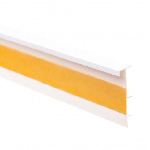 Plinta mocheta canal cablu SET 25474-101 alba 2.5 m