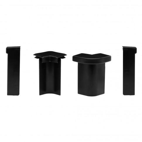 Set colturi plinta mocheta SET N25474-111 negre 2+4+2+2 bucati