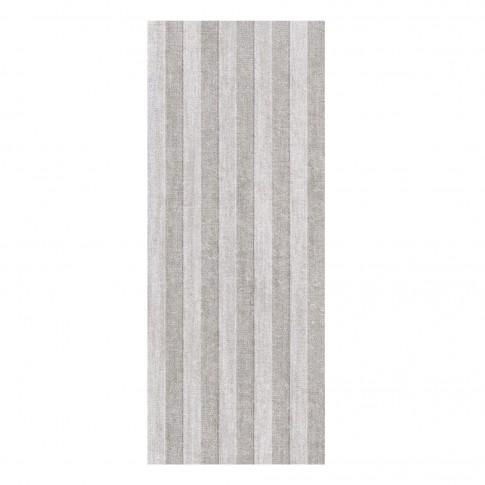 Decor faianta baie / bucatarie, 6002 Motivo Strips, gri, mat, 20 x 50 cm