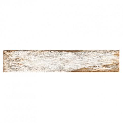 Gresie exterior / interior portelanata Bora alba, mata, 8 x 44.25 cm