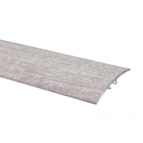 Profil de trecere din aluminiu S64, latime 40 mm, stejar gri, 93 cm