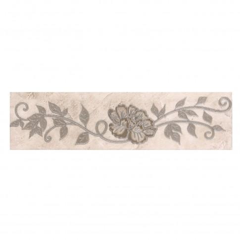 Brau faianta Madeira 2502-0940 floral bej lucios 6 x 25.2 cm