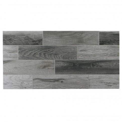 Gresie exterior / interior portelanata Veranda gri, mata, antiderapanta, imitatie lemn, 30 x 60 cm