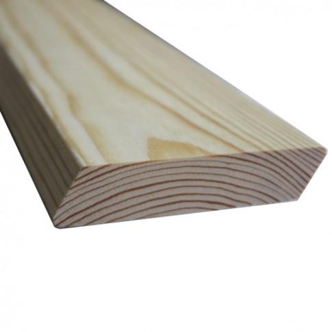 Lambriu lemn pin Rombus, interior/exterior, 2 fete, 3000 x 105 x 21 mm