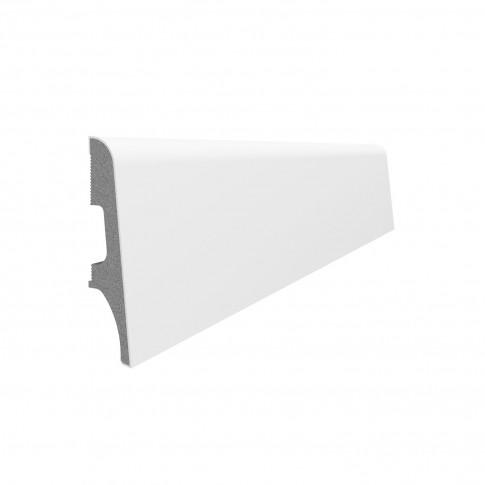 Plinta parchet duropolimer Vox Espumo ESP101, alb, 2500 x 65 x 16 mm