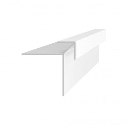 Profil colt universal Vilo 011, PVC, alb, 3 m
