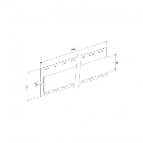 Profil imbinare H PVC, pentru lambriu exterior, Vox SVP-18, stejar gri, 3.05 m