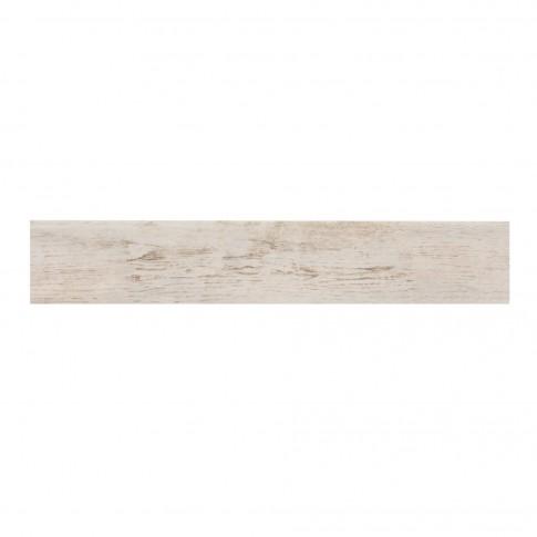 Plinta gresie portelanata Bottega, mata, alba, 8 x 45 cm