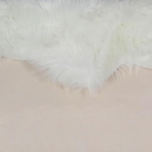 Covor camera copii Chip Flower 13 poliester asimetric alb 90 cm