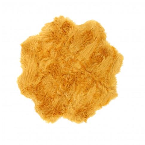 Covor camera copii Chip Flower 16 poliester asimetric portocaliu 90 cm