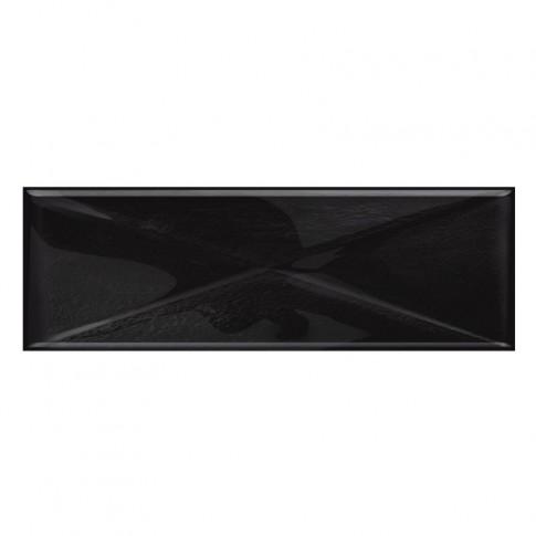 Decor faianta baie / bucatarie Glass Black New, negru, lucios, 9.9 x 29.7 cm