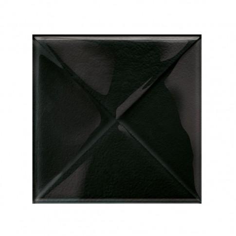 Decor faianta baie / bucatarie Glass Black New, negru, lucios, 9.9 x 9.9 cm