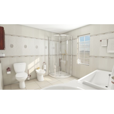 Decor faianta baie / bucatarie Maribor, bej, lucios, 25 x 75 cm