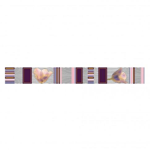 Brau faianta baie / bucatarie Spectra Samira, lila, lucios, 6 x 50 cm