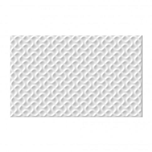 Faianta baie / bucatarie Cesarom Motive 2042-0539, lucioasa, alba, 25.2 x 40.2 cm