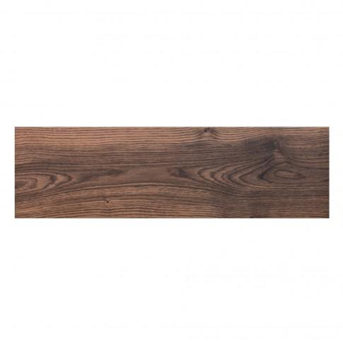 Gresie exterior / interior portelanata, Cerrad Setim, 25250 Nugat, mata, maro, antiderapanta, imitatie lemn, 17.5 x 60 cm