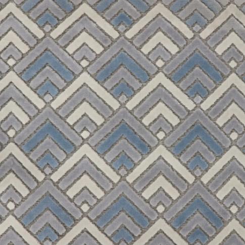 Covor living / dormitor Oriental Weavers Alice H 11/OH8, poliolefina chenila, dreptunghiular, gri + albastru, 160 x 235 cm