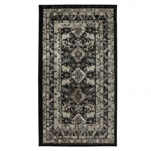 Covor living / dormitor Oriental Weavers Ferrera K 284/EC9, polipropilena heat-set, bej + negru, 120 x 170 cm