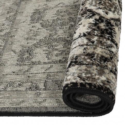 Covor living / dormitor Oriental Weavers Ferrera K 284/EC9, polipropilena heat-set, bej + negru, 200 x 285 cm