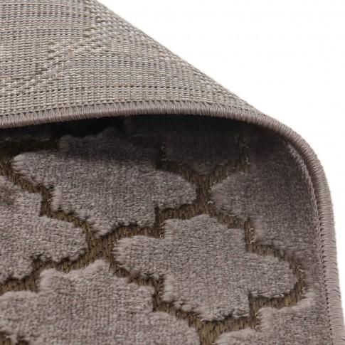 Covor living / dormitor Oriental Weavers Iconic D 30/PH9, poliolefina, dreptunghiular, maro, 80 x 140 cm