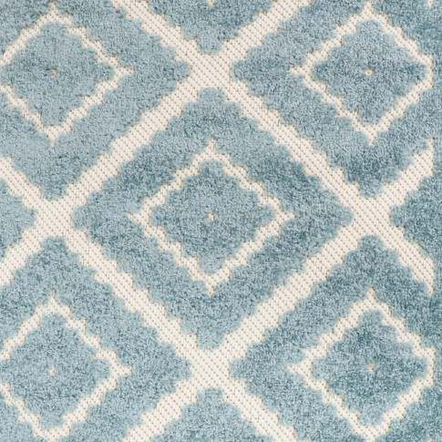 Covor living / dormitor Oriental Weavers Zenda L 524/PJ7, poliolefina, dreptunghiular, albastru, 60 x 110 cm