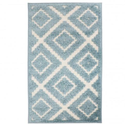 Covor living / dormitor Oriental Weavers Zenda L 524/PJ7, poliolefina, dreptunghiular, albastru, 160 x 235 cm