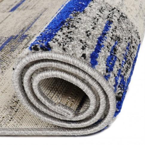 Covor living / dormitor Carpeta Matrix 58101-17211, polipropilena frize, dreptunghiular, crem, 80 x 150 cm