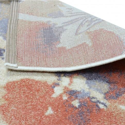 Covor living / dormitor Carpeta Matrix 57881-17933, polipropilena frize, dreptunghiular, coral, 80 x 150 cm