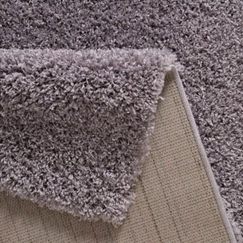 Covor living / dormitor Carpeta Viva 10391-31200, polipropilena frize, dreptunghiular, violet, 90 x 250 cm