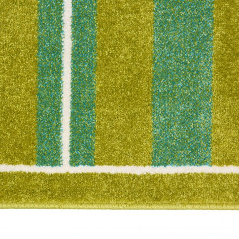Covor camera copii Sintelon Play 59AMA, teren fotbal, polipropilena, dreptunghiular, verde, 120 x 170 cm