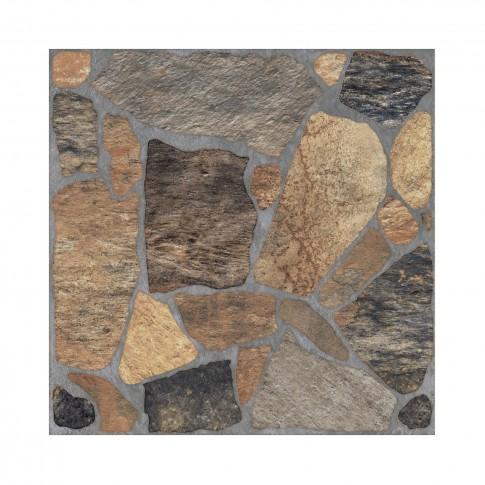 Gresie exterior / interior portelanata antiderapanta Pebble 9754, mata, imitatie piatra, 33 x 33 cm