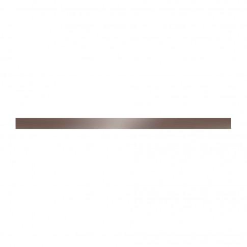 Brau faianta Cesarom, Reale Luster 2505-0122, maro, semilucios, 2.5 x 50 cm