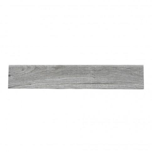 Plinta gresie portelanata Veranda, imitatie lemn, gri, 8 x 45 cm