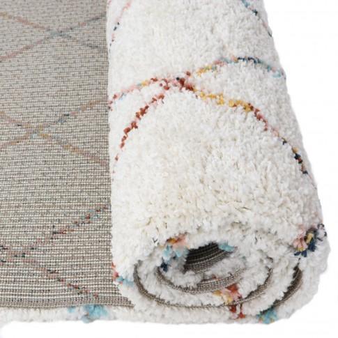 Covor living / dormitor Sherpa 53307-066, polipropilena heat-set, dreptunghiular, crem, 160 x 230 cm