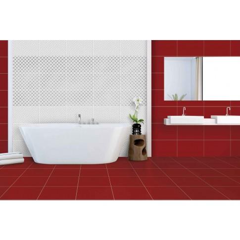 Decor baie / bucatarie Cesarom Motive 3D, 2642-0484, lucios, alb, 25.2 x 40.2 cm