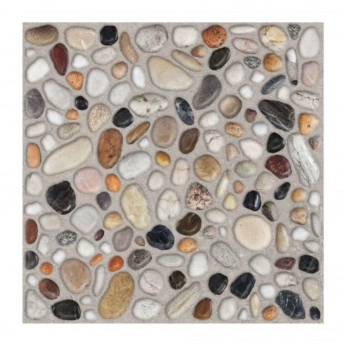 Gresie exterior portelanata Cesarom, 6035-0355 Camp, mata, multicolor, imitatie pietre, 33 x 33 cm