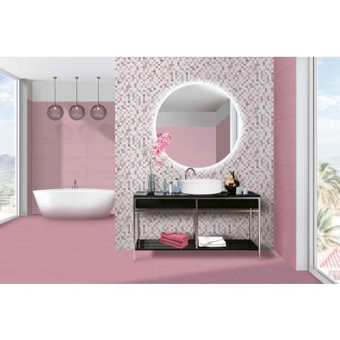 Decor faianta baie / bucatarie Cesarom, 2651-0096 Lines Patch, lucios, model floral, 25 x 50 cm, set 2 placi
