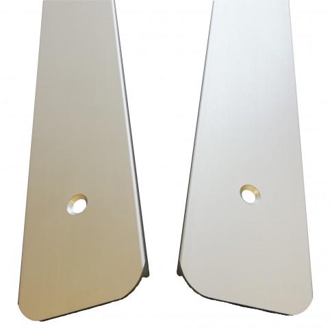 Profil stanga pentru protectia blatului de bucatarie, Profiline, aluminiu, 60 x 3.8 cm
