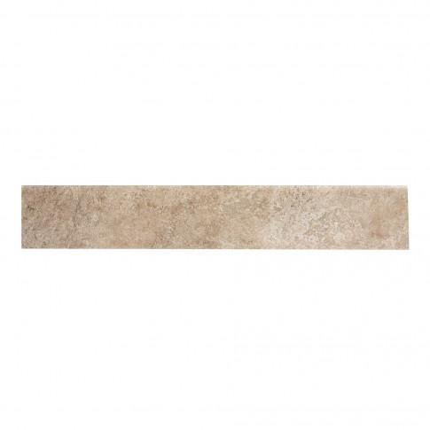Plinta gresie portelanata Caucaso, imitatie piatra, gri / bej, 8 x 45 cm
