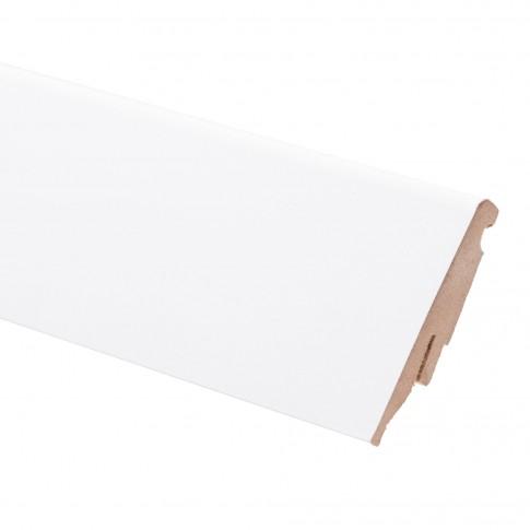 Plinta parchet MDF SET, alb, 2440 x 60 x 19 mm