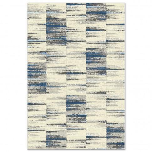 Covor living / dormitor Carpeta Matrix 58101-18211, polipropilena frize, dreptunghiular, crem, 80 x 150 cm