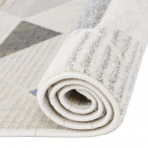 Covor living / dormitor Carpeta Soho 57651-18223, polipropilena frize hand carved, dreptunghiular, crem, 120 x 170 cm