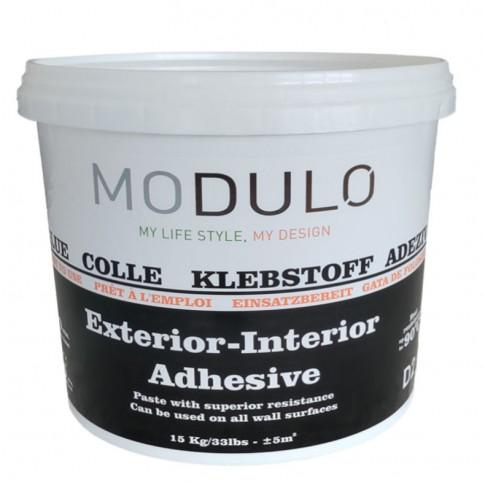 Adeziv flexibil pentru piatra decorativa, placi ceramice sau panouri decorative, Modulo Adhesive, gata preparat, interior / exterior, 15 kg